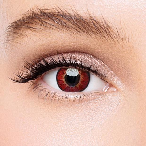 Icoloured® Elf Red Naruto Sharingan Colored Contact Lenses