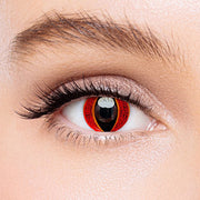 Icoloured®  Eye Of Sauron Red Colored Contact Lenses