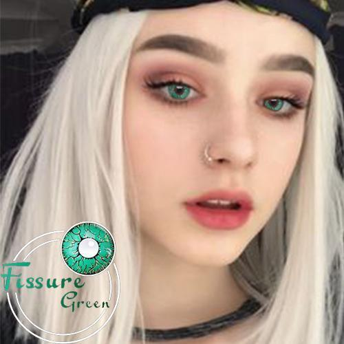 Icoloured® Fissure Green Colored Contact Lenses