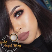 Icoloured® Gold Angel Wing Colored Contact Lenses