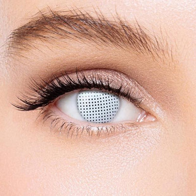 Icoloured® Gridding White Colored Contact Lenses