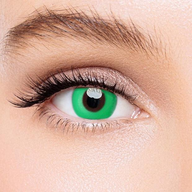 Icoloured® Pure Green Naruto Colored Contact Lenses