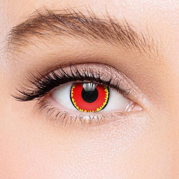 Icoloured® Red Vampire Colored Contact Lenses