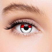 Icoloured® Red White Pokemon Colored Contact Lenses