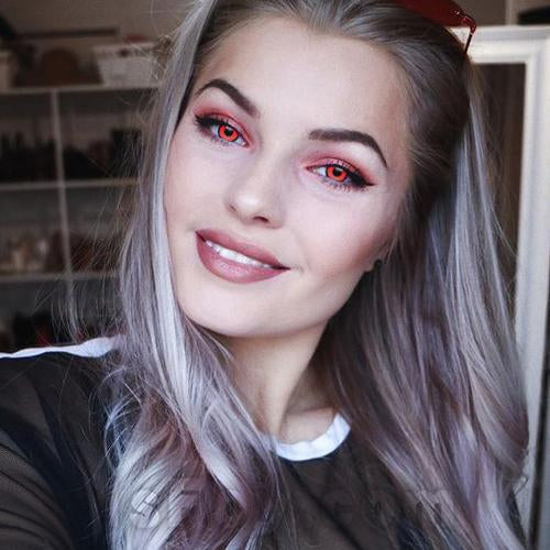 Icoloured® Red Angelic Vampire Colored Contact Lenses