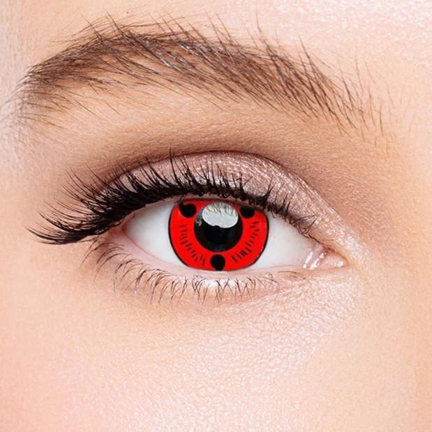 Icoloured® Sharingan Magatama Naruto Colored Contact Lenses