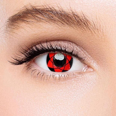 Icoloured® Sharingan Sasuke Naruto Colored Contact Lenses