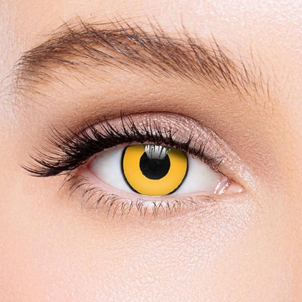 Icoloured® Yellow Mad Hatter Colored Contact Lenses