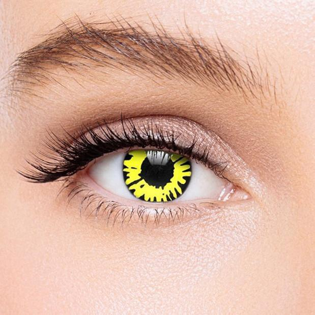 Icoloured® Yellow Twilight Werewolf Colored Contact Lenses