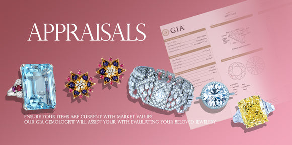 Jewelry Insurance Appraisals by GIA Gemologist