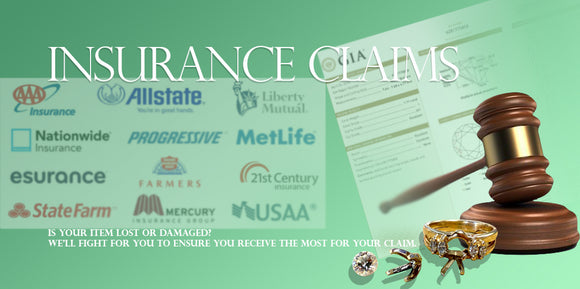 Jewelry Insurance Damage Insurance Claims given by GIA Gemologist Appraiser