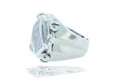Unisex, Invisible, Princess 3.50 CT Diamond Ring with Screw Accents
