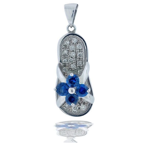 .50 Ct. Diamond and Sapphire Shoe Pendant