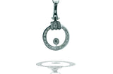 Contemporary, Circle .60 Ct. Diamond Pave Pendant and Gold Chain