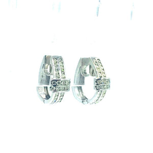Hinged, Diamond Huggee Earrings, .75 Ct TW, !4 Kt Gold