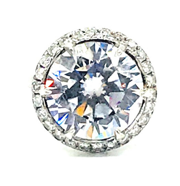 Custom, 12 Carat Center, Set in Diamond Mounting 14 Kit