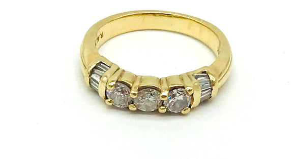 Engagement Band, 1.50 carat, VS Diamond Ring, 14 Kt Yellow