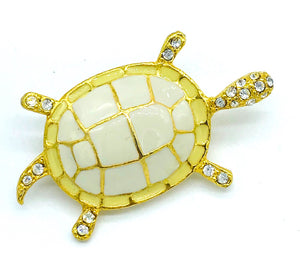 "Enamel, Turtle with Glitter 2"" Pin"