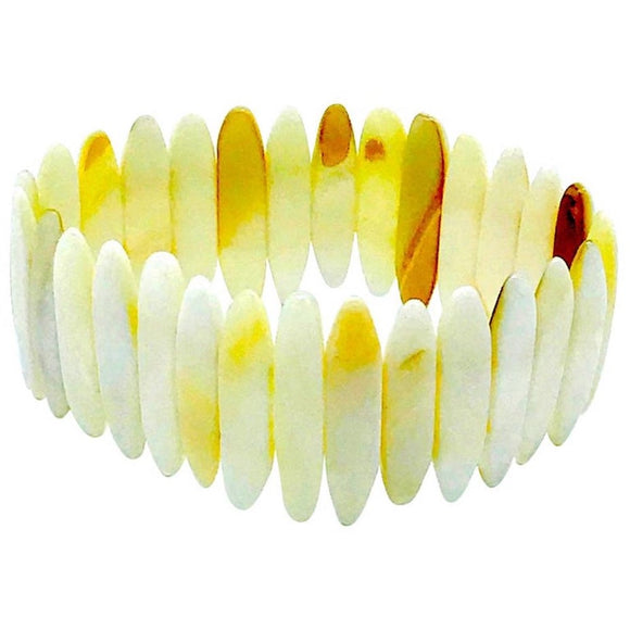 Mother of Pearl Shimmering, African Expandable Hand Cut Bracelet