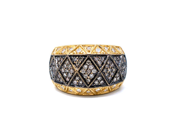 Tapestry, Black Diamond .85 CT. Ring, 18Kt Gold