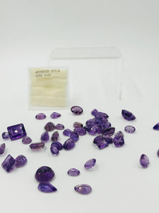 Amethyst Loose Weight of 260.00 Carats, Genuine Gemstones, Box of Gems