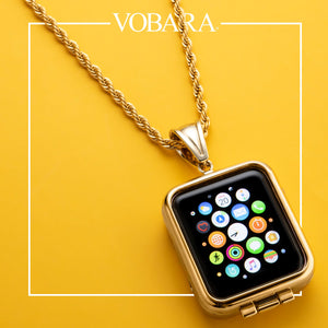 Gold Pendant Case for Apple Watch
