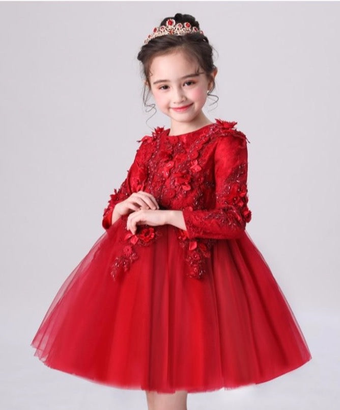 Emma Luxe Red Ball Gown