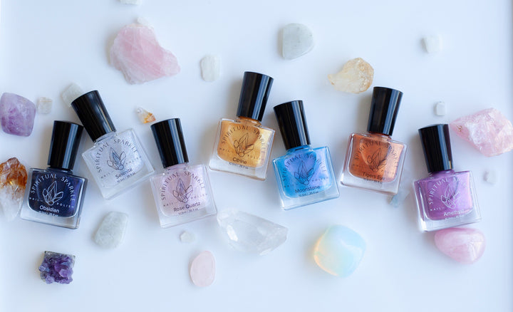 Nail Polish infused with crystals