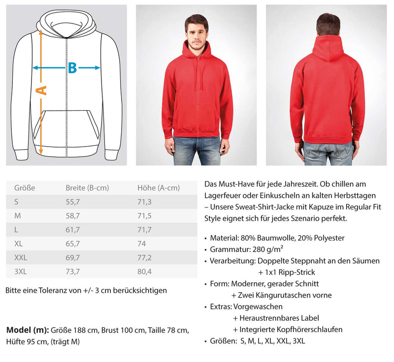 Gerüstbauer Sachsen Anhalt  - Zip-Hoodie Gerüstbauer Sachsen Anhalt | Herren Basic T-Shirt - www.geruestbauershop.de ZipperB 44.95 Gerüstbauer - Shop >>