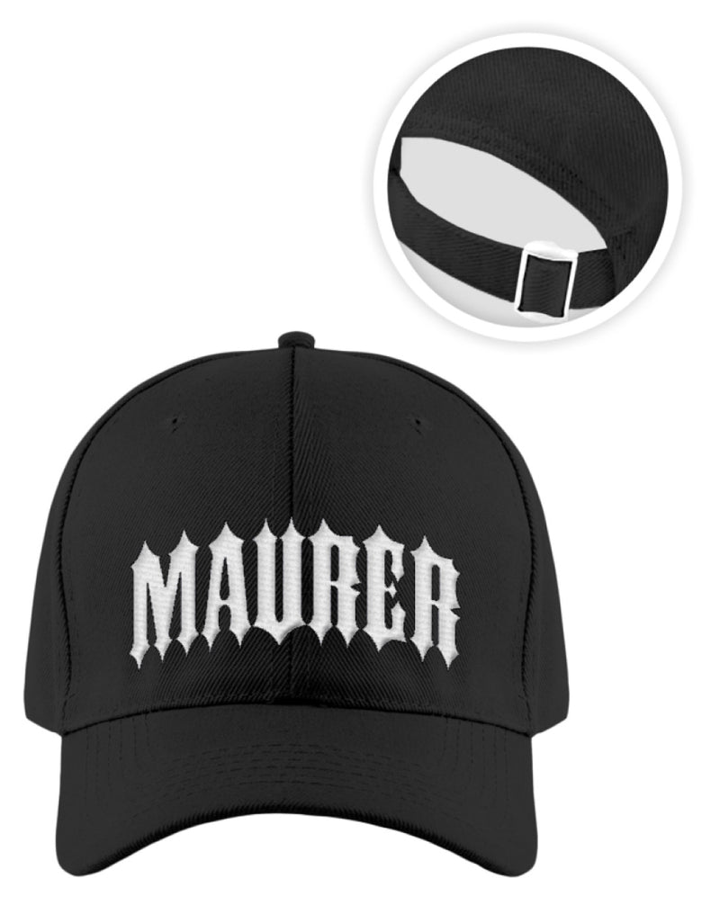 Maurer  - Kappe Maurer | Baseball Cap with Embroidery - www.geruestbauershop.de Baseball Cap mit Stickerei 24.95 Gerüstbauer - Shop >>