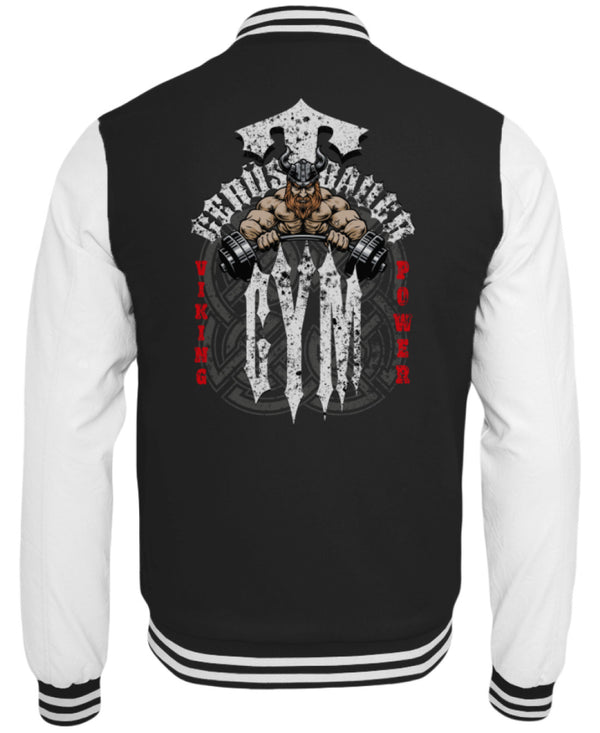 Gerüstbauer GYM / Viking Power  - College Sweatjacke - [Produkt_typ] - [Shop_Name]