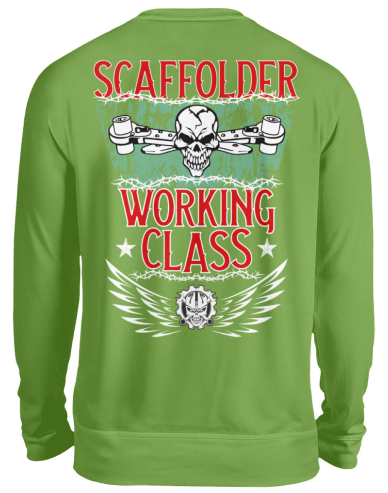 Scaffolder/Working/Class  - Unisex Pullover Scaffolder/Working/Class | Herren Basic T-Shirt - geruestbauershop.de Unisex Sweatshirt 32.95 Gerüstbauer - Shop >>