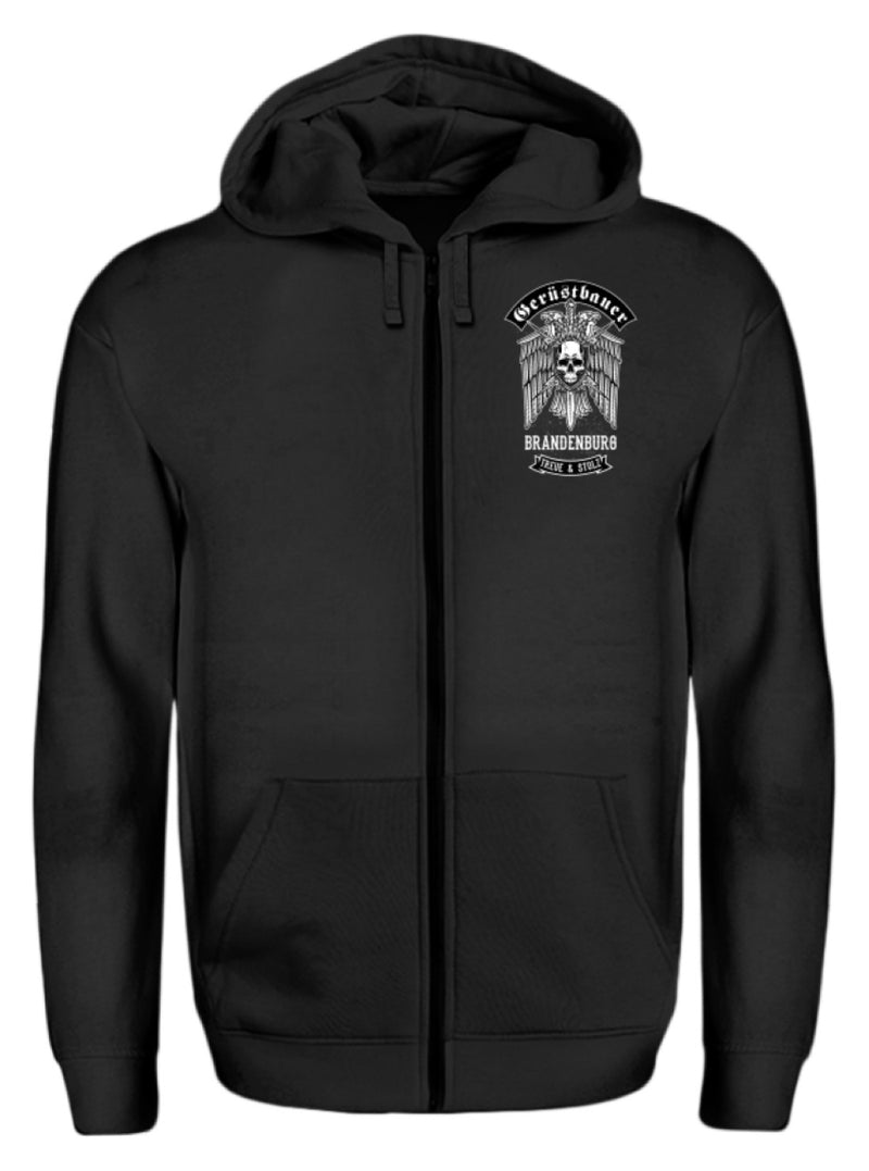 Gerüstbauer Brandenburg  - Zip-Hoodie Gerüstbauer Brandenburg | Herren Basic T-Shirt - www.geruestbauershop.de ZipperB 44.95 Gerüstbauer - Shop >>