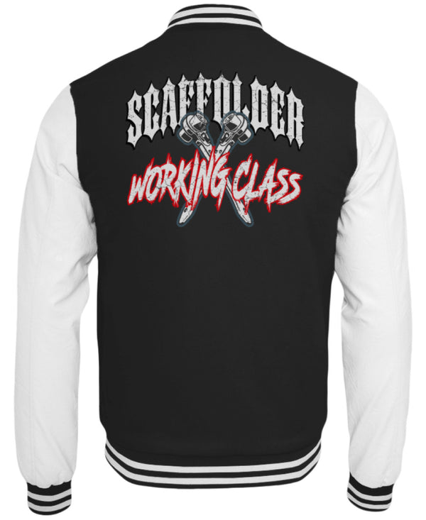 Scaffolder Working Class  - College Sweatjacke Scaffolder Working Class | CollegejackeB - www.geruestbauershop.de CollegejackeB 59.95 Gerüstbauer - Shop >>