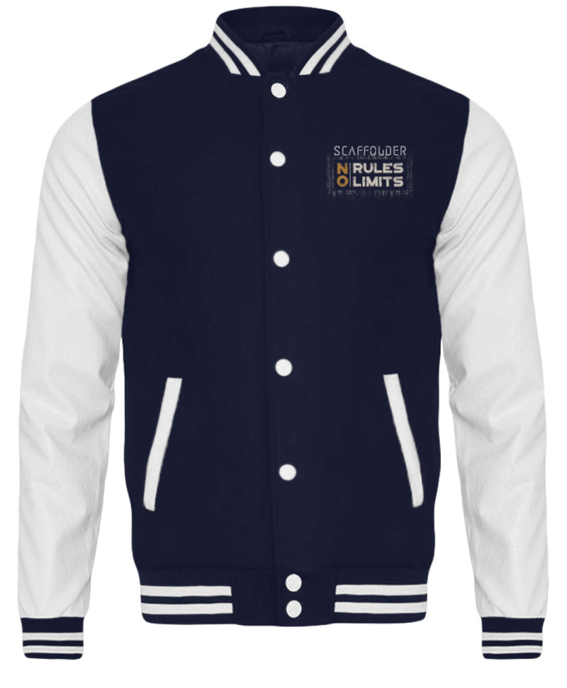 Scaffolder NO RULES NO LIMITS  - College Sweatjacke Scaffolder NO RULES NO LIMITS | CollegejackeB - www.geruestbauershop.de CollegejackeB 59.95 Gerüstbauer - Shop >>