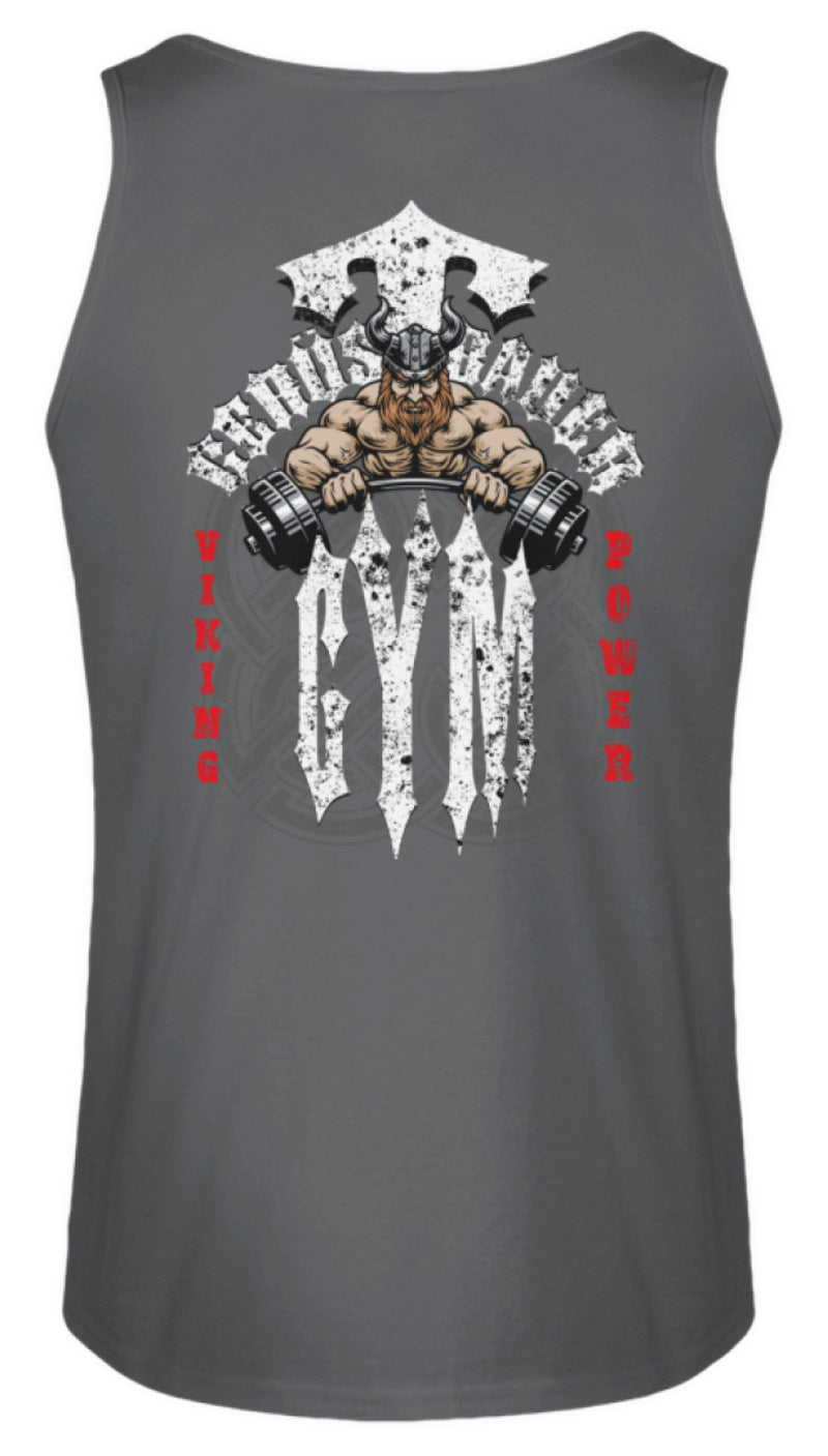 Gerüstbauer Gym / Viking Power / White  - Herren Tanktop Gerüstbauer Gym / Viking Power / White | Herren Basic T-Shirt - www.geruestbauershop.de Herren Tank-Top 22.95 Gerüstbauer - Shop >>