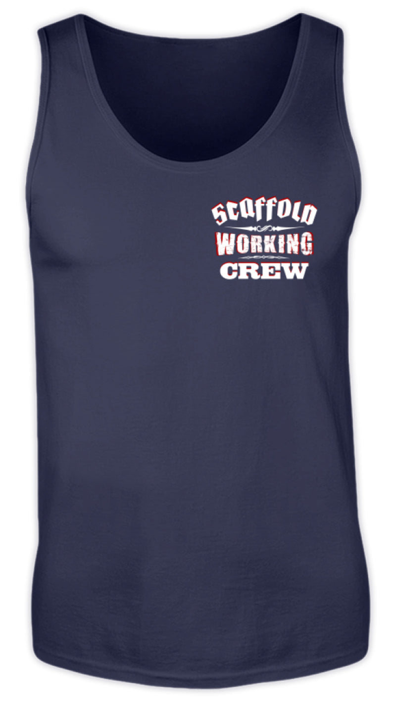 SCAFFOLD WORKING CREW  - Herren Tanktop SCAFFOLD WORKING CREW | Herren Basic T-Shirt - www.geruestbauershop.de Herren Tank-Top 22.95 Gerüstbauer - Shop >>
