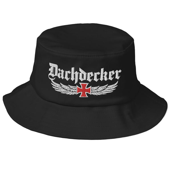 Dachdecker Old School Bucket Hat Dachdecker Old School Bucket Hat | www.geruestbauershop.de  29.95 Gerüstbauer - Shop >>