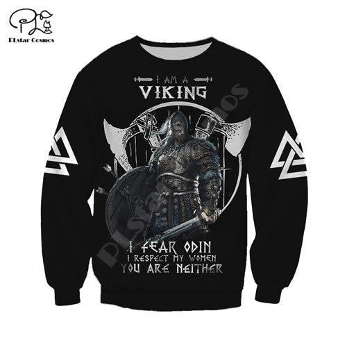 women Men retro I am a viking tattoo print 3D native Hoodies unisex vintage Sweatshirts zipper pullover tracksuit €28.96 Gerüstbauer - Shop >>
