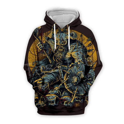 Tessffel Unisex Viking Tattoo Viking Warriors 3DPrint Sweatshirts/Hoodie//Jacket s-13 - [Produkt_typ] - [Shop_Name]