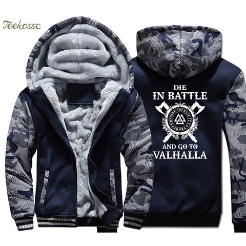 Odin Vikings Hoodie Coat Men - [Produkt_typ] - [Shop_Name]
