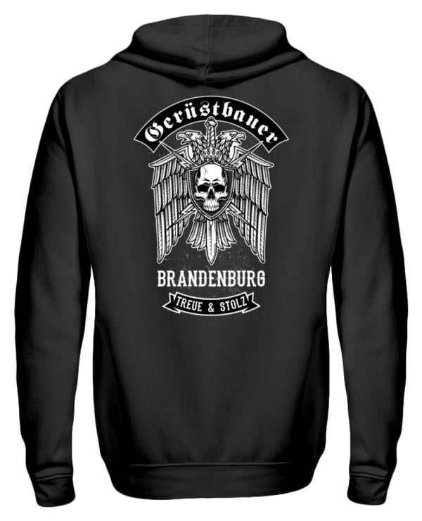 Gerüstbauer Brandenburg  - Zip-Hoodie Gerüstbauer Brandenburg | Herren Basic T-Shirt - www.geruestbauershop.de ZipperF 44.95 Gerüstbauer - Shop >>