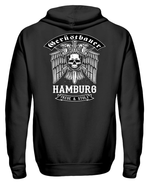 Gerüstbauer Hamburg  - Zip-Hoodie Gerüstbauer Hamburg | Herren Basic T-Shirt - www.geruestbauershop.de ZipperF 44.95 Gerüstbauer - Shop >>