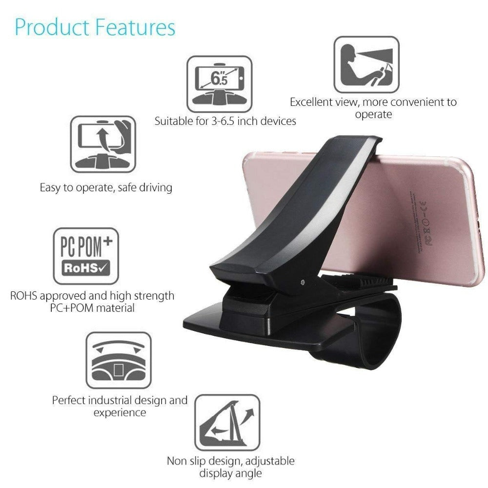 Adjustable Car Phone Clamp Holder