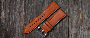 BROWN LEATHER /GRAY STITCH/ - LÜM-TEC Europe