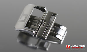 22MM DEPLOY BUCKLE POLISHED - LÜM-TEC Europe