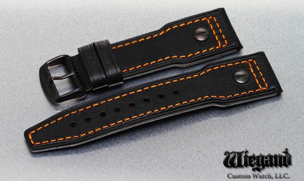 LEATHER WITH THE ORANGE STITCHING - LÜM-TEC Europe