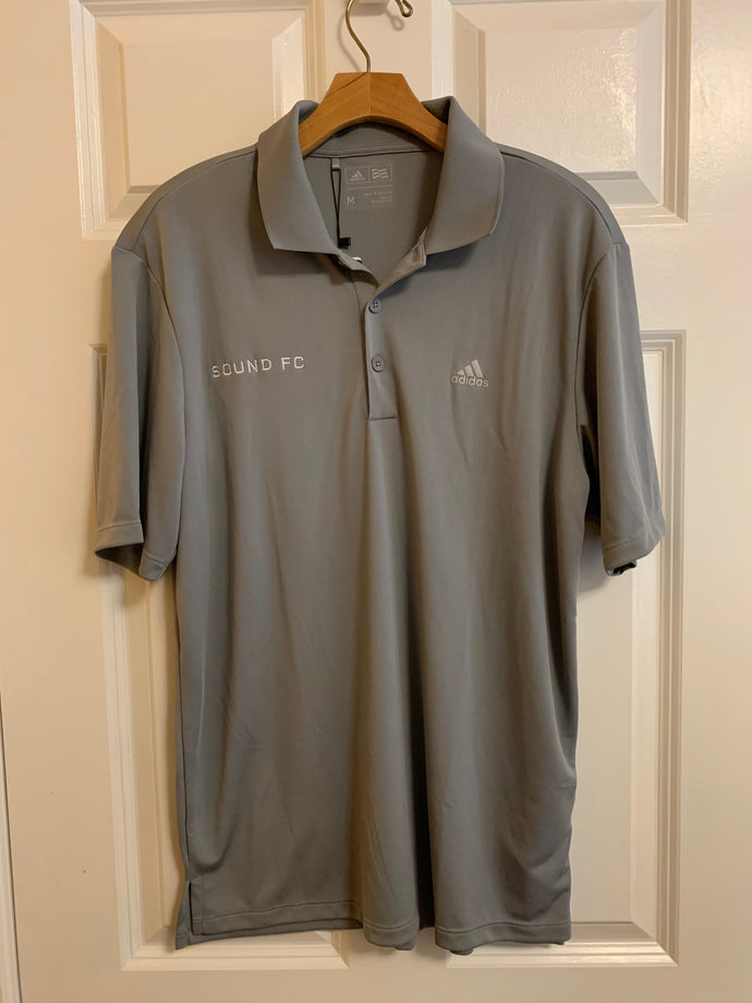 Sound FC Branded Adidas Polo Shirt - Gray