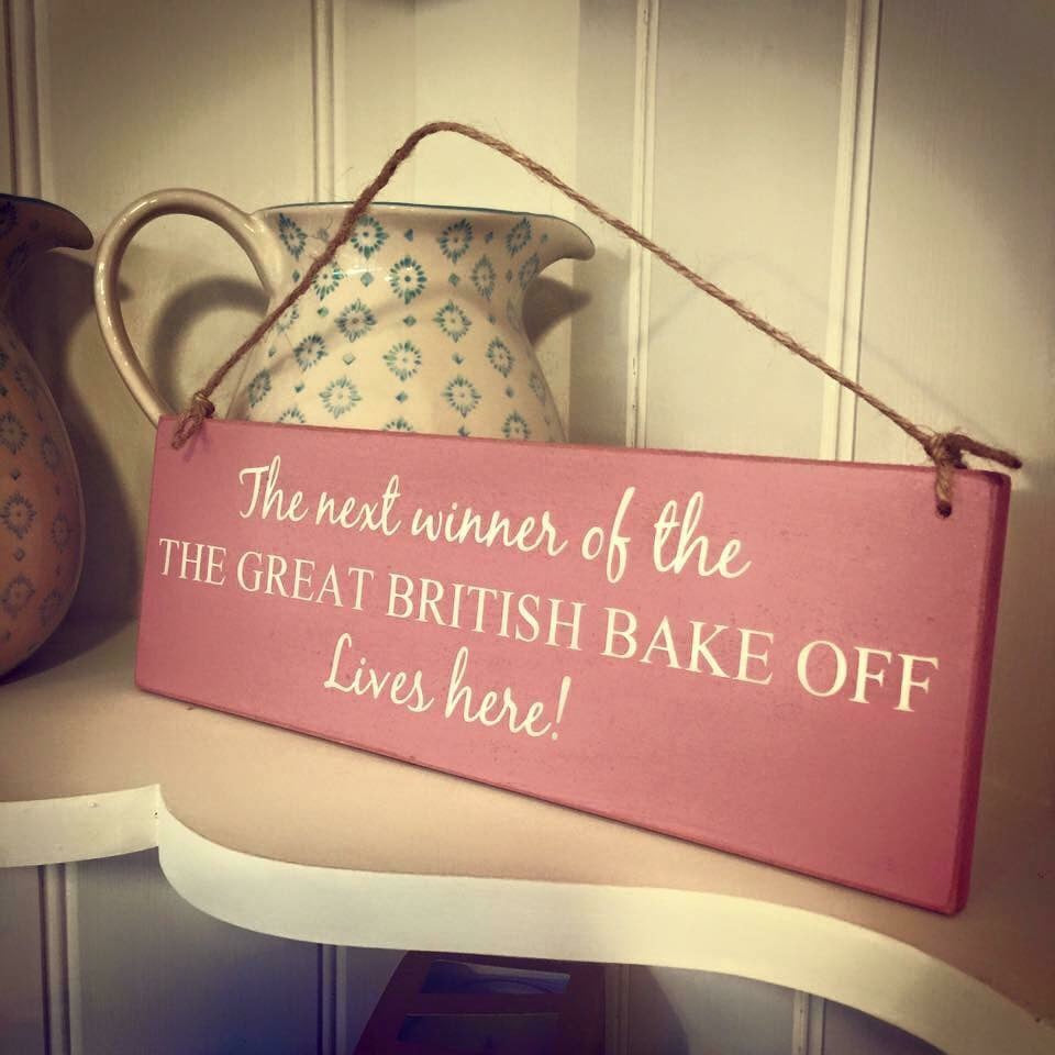 Britsh Bake Off Sign