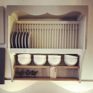 Handmade bespoke plate rack/kitchen unit